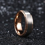 King Will Duo™7mm 18k Rose Gold Plated Two Tone Wedding Ring