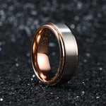 King Will Intertwine™Titanium Spinner Matte Finish Wedding Ring