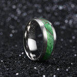 King Will COLOR™Titanium Wedding Ring Inlaid Green Resin