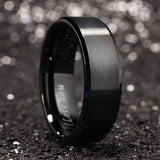 King Will BASIC™ 8mm black ring with I LOVE YOU LASER