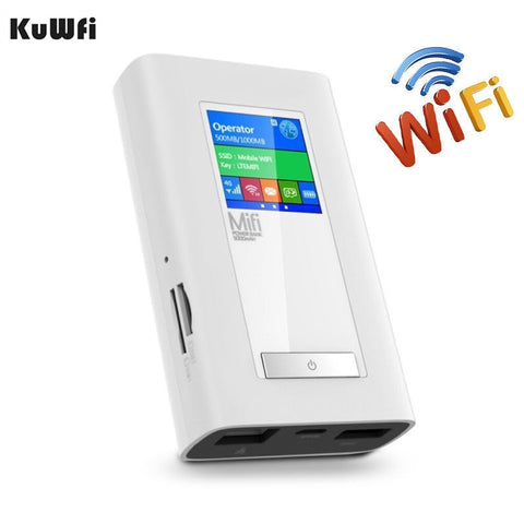 4G-LTE WiFi Travel Router for USA/CA/Mexico (w/ 5200Mah Powerbank, Dual SIM Card, RJ45 Port)