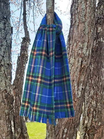 Nova Scotia Tartan Fleece Scarf Tree Wrap