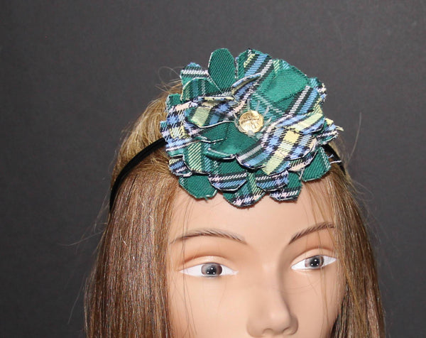 Alberta Tartan Flower on Headband-Taylors Tartans