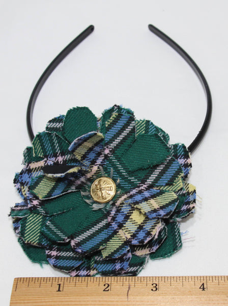 Alberta Tartan Flower on Headband