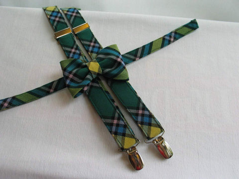 Alberta Tartan Suspenders and Bow Tie Set-Taylors Tartans