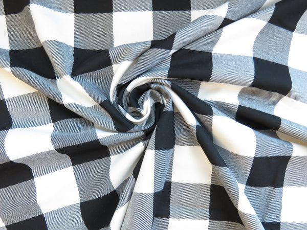 Black and White Buffalo Check Fabric-Taylors Tartans