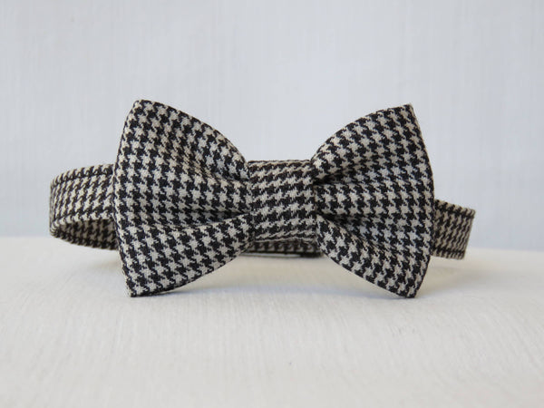 Black and White Flat Cap Bow Tie Suspenders Set