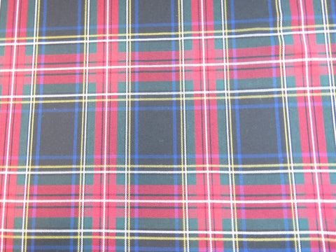 Black Stewart Tartan Fabric-Taylors Tartans