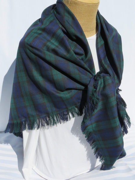 Black Watch Tartan Blanket Scarf-Taylors Tartans