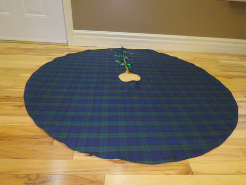 Black Watch Tartan Christmas Tree Skirt-Taylors Tartans