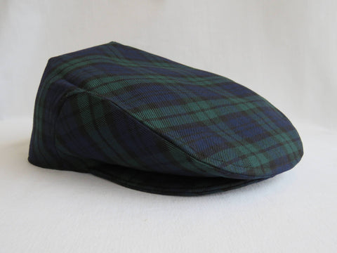Black Watch Tartan Flat Cap Hat-Taylors Tartans
