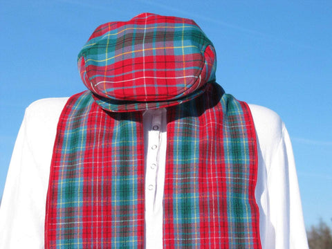 British Columbia Tartan Scarf and Flat Cap Set-Taylors Tartans