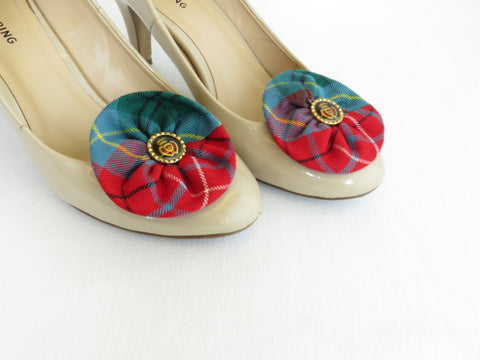 British Columbia Tartan Shoe Clips-Taylors Tartans