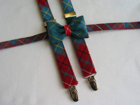 British Columbia Tartan Suspenders and Bow Tie Set-Taylors Tartans