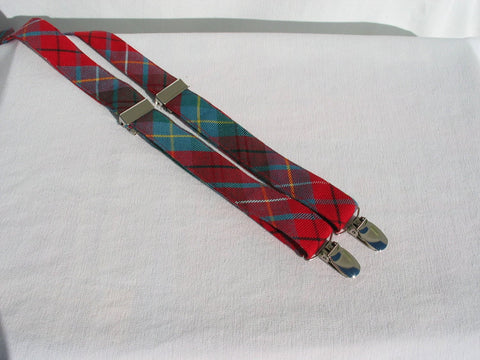 British Columbia Tartan Suspenders-Taylors Tartans
