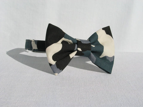 Camo Bow Tie in Gray and White-Taylors Tartans