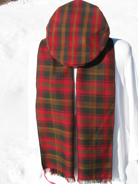 Canadian Maple Leaf Tartan Flat Cap and Scarf Set-Taylors Tartans