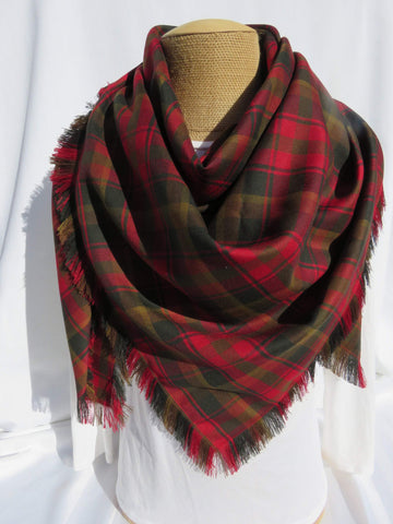 Canadian Tartan Maple Leaf Blanket Scarf-Taylors Tartans
