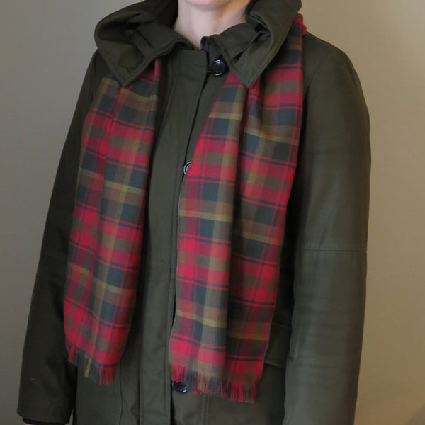 Canadian Tartan Maple Leaf Scarf-Taylors Tartans