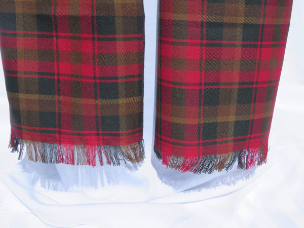 Canadian Tartan Maple Leaf Scarf