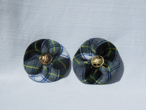 Dress Gordon Tartan Shoe Clips-Taylors Tartans