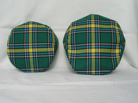 Father Son Matching Alberta Tartan Flat Caps-Taylors Tartans