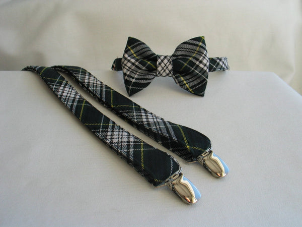 Gordon Tartan Suspenders and Bow Tie Set