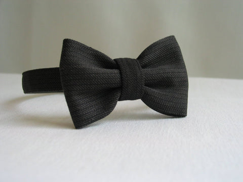 Gray Pinstripe Wedding Bow Tie-Taylors Tartans