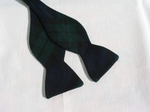 Green and Navy Freestyle Bow Tie in Black Watch Tartan-Taylors Tartans
