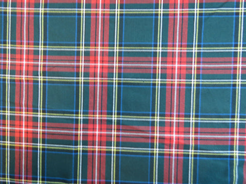 Green Stewart Tartan Fabric-Taylors Tartans