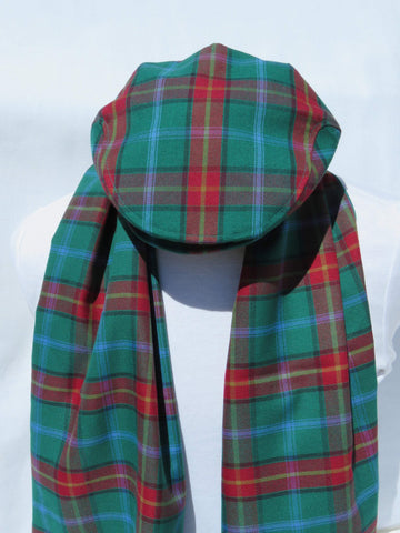 Manitoba Tartan Flat Cap and Scarf Set-Taylors Tartans
