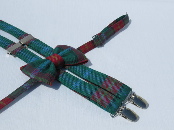 Manitoba Tartan Suspenders and Bow Tie