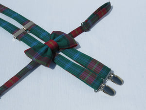 Manitoba Tartan Suspenders and Bow Tie-Taylors Tartans