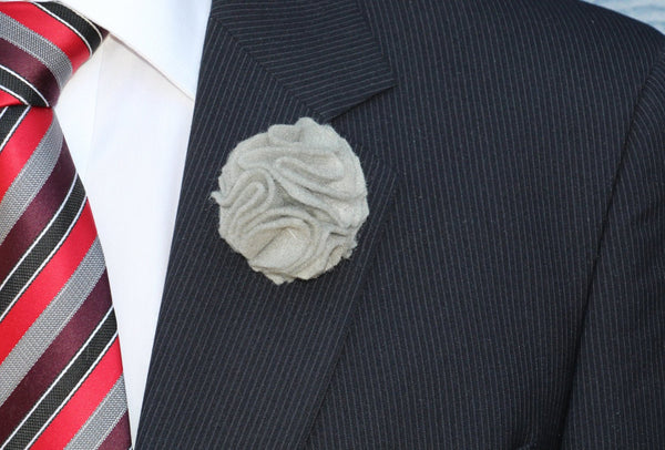 Men's Wool Felt Carnation Lapel Flower