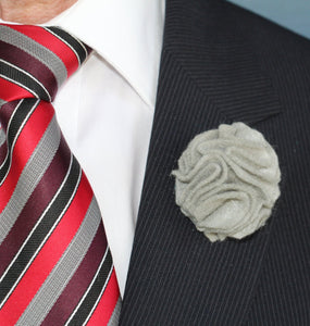 Men's Wool Felt Carnation Lapel Flower-Taylors Tartans