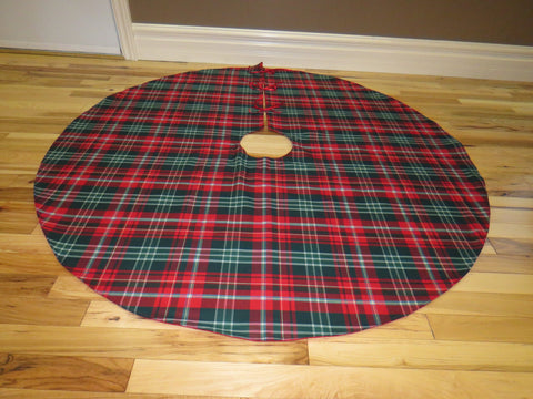 New Brunswick Tartan Christmas Tree Skirt-Taylors Tartans