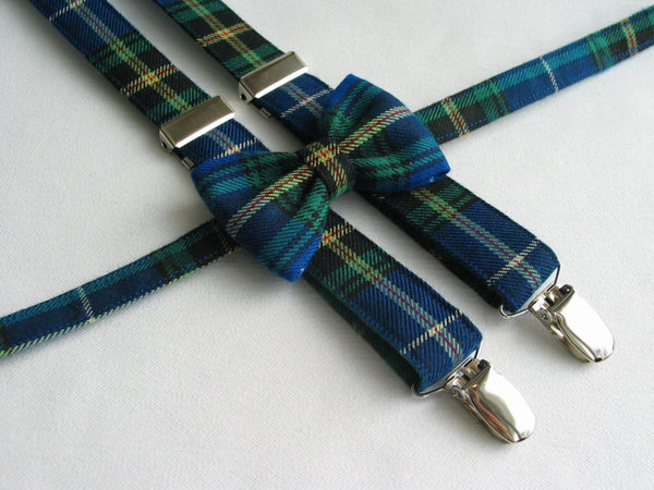 Nova Scotia Tartan Bow Tie and Suspenders