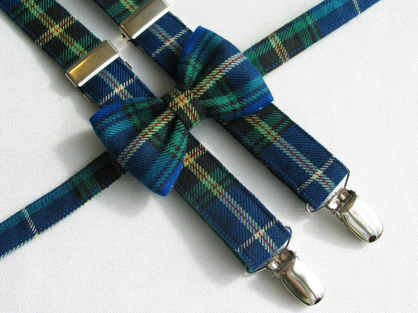 Nova Scotia Tartan Bow Tie and Suspenders-Taylors Tartans
