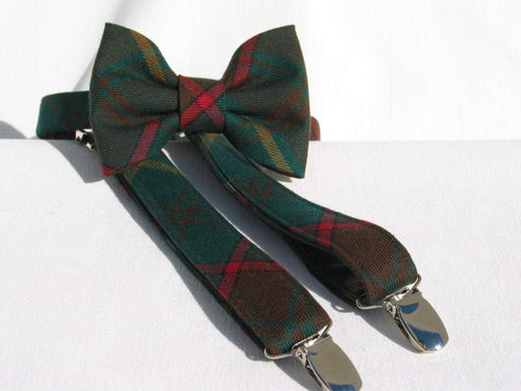 Ontario Tartan Suspenders and Bow Tie Set-Taylors Tartans