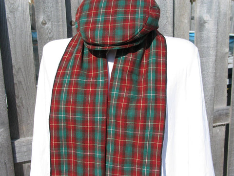 Prince Edward Island Tartan Flat Cap and Scarf Set-Taylors Tartans