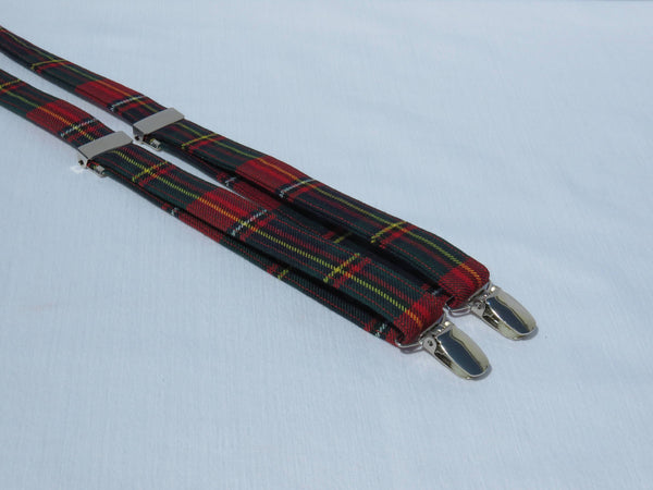Quebec Tartan Suspenders and Bow Tie Set-Taylors Tartans