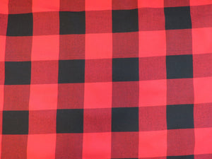 Red and Black Check Buffalo Fabric By The Yard-Taylors Tartans