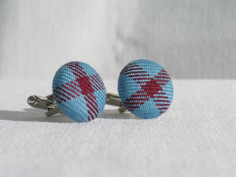 Royal Canadian Air Force Tartan Cuff Links-Taylors Tartans