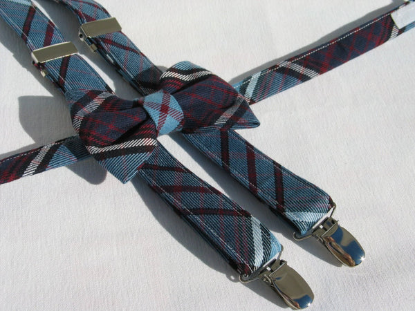 Royal Canadian Air Force Tartan Suspenders and Bow Tie Set-Taylors Tartans