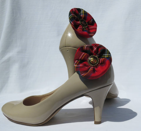Royal Stewart Tartan Shoe Clips-Taylors Tartans