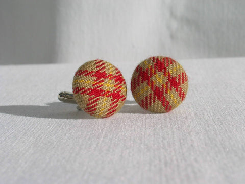 Saskatchewan Tartan Cuff Links-Taylors Tartans