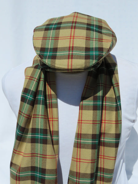 Saskatchewan Tartan Flat Cap and Scarf