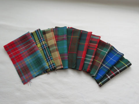 Set Canadian Provincial Tartan Fabric By The Yard-Taylors Tartans