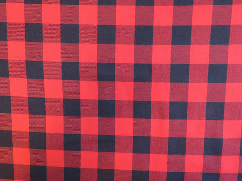 Small Print Buffalo Tartan Fabric-Taylors Tartans