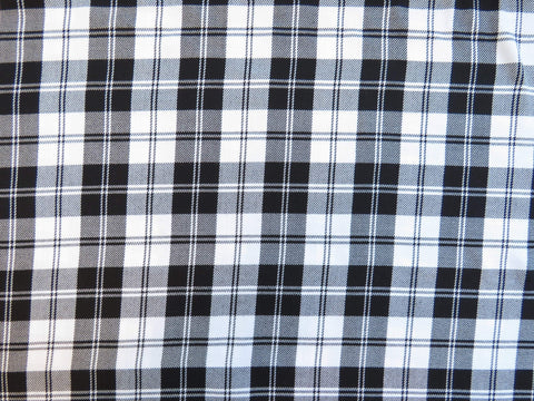 White Menzies Tartan Fabric-Taylors Tartans